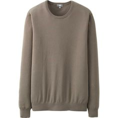 MEN SUPIMA COTTON CREW NECK SWEATER | UNIQLO ($12.90)