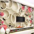 Great wall Modern 3d Borboleta Rosa mural papel de parede para TV fundo da parede 3d, papel de parede floral em Papéis de parede de Melhoramento Da casa no AliExpress.com | Alibaba Group