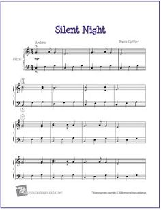 Silent Night | Free Sheet Music for Easy Piano by wavemusicstudio, via Flickr