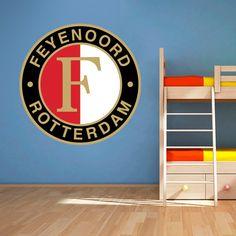 Muursticker Feyenoord  Vrolijk die ene saaie muur op met een ...