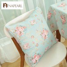Capa de almofada floral rústico de decoração tecidos sofá fronha de almofada(China (Mainland))