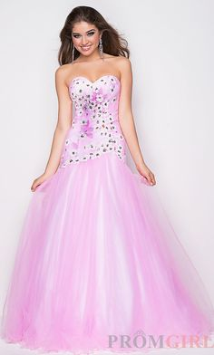 Cotton candy color prom dress