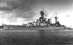 """HMS """"Hood"""" Hms Hood, Hms Ark Royal, Churchill, Croiseur Lourd, Marine Royale, Military Drawings, Capital Ship, Ww2 Photos, Navy Ships"""