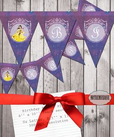 CINDERELA Birthday Banner 8x10 inch Large Size Disney Themed Party