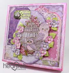 Get inspired in the Heartfelt Creations Project Gallery. Free scrapbook layouts, altered art projects and more with instructions. Heartfelt Creations Cards, Ppr, Pink Paper, Owl House, Mothers Day Cards, Color Card, Xmas Cards, Altered Art, Paper Flowers
