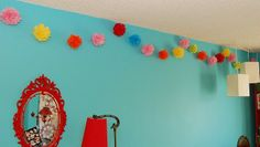 garland is great for easy party decor
