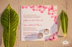 Tropical Themed Wedding Invitation