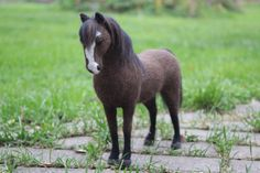 Needle Felted Spanish Mustang Ziggy custom order by AliceFelts, $100.00