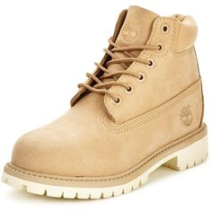 Timberland 6Inch Premium Classic Boot (13.100 HUF) ❤ liked on Polyvore featuring shoes, boots, timberland boots, timberland shoes and timberland footwear
