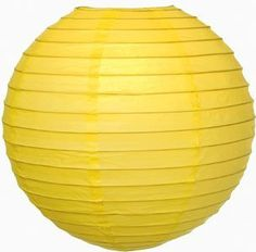 Yellow 8 Inch Premium Small Paper Lantern by Luna Bazaar. $2.25. This small yellow paper lantern is made with the finest quality rice paper and bamboo or wire parallel ribbing. As with all our premium paper lanterns, they can be used with most ceiling fixtures and with most light cords for hanging lanterns. They can also be used with our LED battery lights as convenient, cord-free lighting and decoration for parties, weddings, patios, gardens, and outdoor celebrations. (Please n...