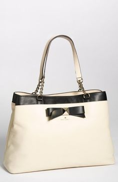 Exclusive style for Nordies!  kate spade new york 'hancock park - maryanne' leather bow shopper, large available at #Nordstrom