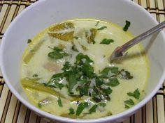 Kínai kelkáposzta leves curryvel és kókusztejjel Cheeseburger Chowder, Curry, Soup, Curries, Soups, Chowder