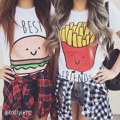 Me and my bestie have these shirts they are SUPER awesome you can find them on Amazon and they are REALLY CUTE