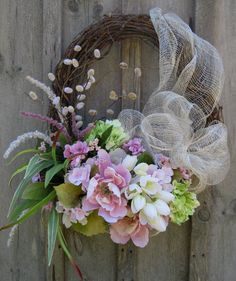 Floral Wreath Easter Wreath Summer Garden