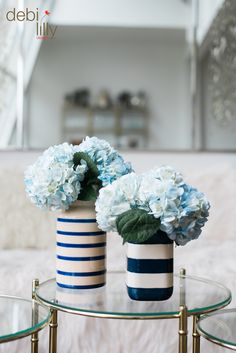 These simple yet sophisticated vases will give any room in your home a pop of color. Designed by Debi Lilly™, these could not be more perfect for summer!