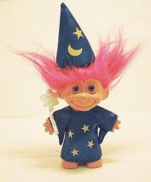 These sometimes creepy little troll dolls became widely popular around the early 1960's in the United States. My favorites had the little stone in the middle. #doll #1960s #toy