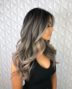 Best Picture For ash blonde balayage guy tang For Your Taste You are looking for something, and it i Silver Blonde Hair, Balayage Hair Blonde, Brunette Hair, Ash Blonde Highlights On Dark Hair, Ombre Hair, Blonde Balayage Highlights On Dark Hair, Haircolor, Dark Brown To Blonde Balayage, Dark Ash Brown Hair
