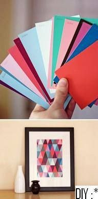 Do this with paint chips, but with the nursery colors not these.