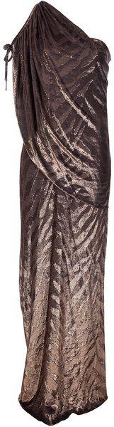 Temperley London Pamelita Dress in Gold (bronze)