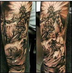 Poseidon Tattoo Naughty Needles Tattoos