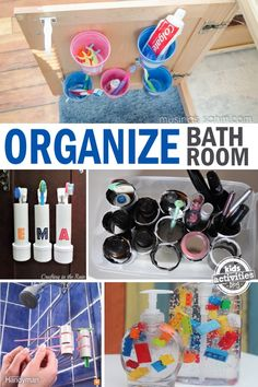 Awesome bathroom tips and tricks that help make cleaning faster and easier. Genius!