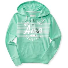 Aeropostale East Coast Stripe Popover Hoodie ($18) ❤ liked on Polyvore featuring tops, hoodies, balsam green, green hoodie, drawstring hooded pullover, green top, aeropostale hoodie and striped hoodies