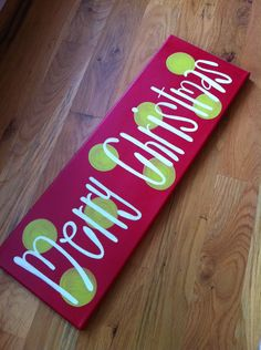8x24 Merry Christmas Sign by TwirlingBrushes on Etsy, $22.00