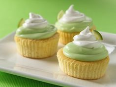 Mini Key Lime Cupcakes