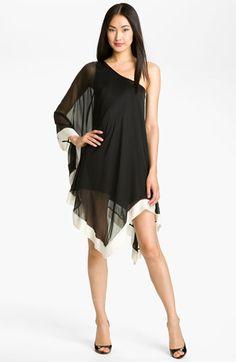 A.B.S. by Allen Schwartz One Shoulder Silk Dress | Nordstrom
