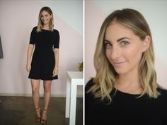 {Tuesday: Club Monaco Dress, Manolo Blahnik Sandals, Topshop 'Saint' Lipstick}