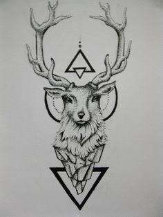 Deer Tattoo by duDuArte.deviantart.com on @DeviantArt