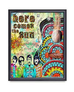 Beatles poster artretro beatles art musicbeatles by TarasArtHouse