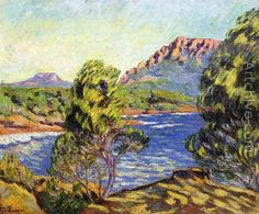 Agay,  the Bay during the Mistral - Armand Guillaumin
