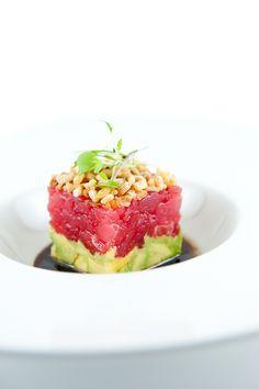Ahi Tuna Tartare with Avocado, Crispy Shallots and Soy-Sesame Dressing