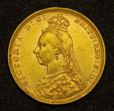 British Gold Sovereign Gold Coin of Queen Victoria. Gold Coin Image, Gold Sovereign, Gold Money, Gold And Silver Coins, World Coins, Anglo Saxon, Rare Coins, Edwardian Era, Goods And Services