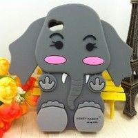 Amazon.com: Jessica Simpson Honey Rabbit 3D Cartoon Elephant Soft Shell Case for iPhone 4/4S: Cell Phones & Accessories