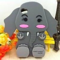 Amazon.com: Jessica Simpson Honey Rabbit 3D Cartoon Elephant Soft Shell Case for iPhone 4/4S: Cell Phones & Accessories