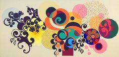 Beatriz Milhazes com suas formas e cores.