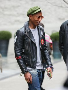 Never pin male fashion, but I just love Pharrel's style...