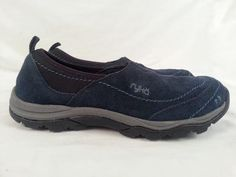 Women's Ryka Blue Suede Slip On Shoes Size 6 NEW #Ryka #LoafersMoccasins