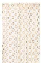 Patterned curtain length - White/Gold - Home All | H&M CA 2