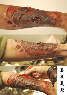 How to make burnt skin - Halloween Makeup