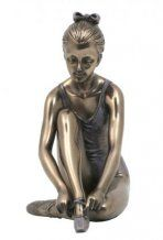 LACING UP - COLD CAST BRONZE