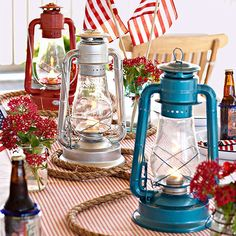 4th of July Lantern Table Setting