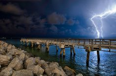 Lightning off South Beach by MattSherman, via Flickr