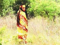 Bohemain Woodsctock Hippie Super Long Tye Dye Caftan by LACEn80s, $30.00