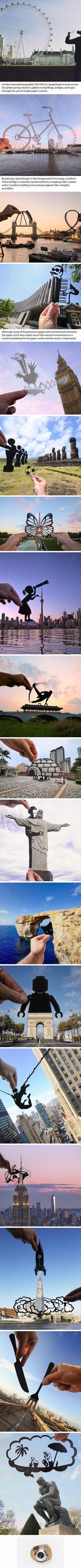 Paper Cutouts Transform Landmarks Around The World Into Scenes Of Temporary Amusement