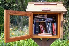 """The town proudly participates in the """"Little Free Library"""" movement, so keep your eyes peeled for tiny library boxes in front of residents' home. Take a book and leave a book for no charge whatsoever — it's a bookworm's dream! Little Free Libraries, Free Library, Le Cri, Paris, Book Worms, Michigan, Projects To Try, Lily, Eyes"""