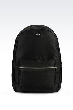 BACKPACK IN LOGO PATTERNED JACQUARD: Backpacks Men by Armani - 1