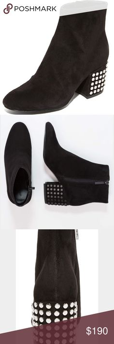 KENDALL + KYLIE Blythe Studded Suede Booties Gorgeous bootie. Features a silver studded heel. Side Zipper Closure. Suede Upper. Kendall & Kylie Shoes Ankle Boots & Booties